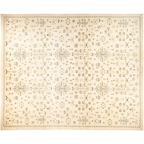 "12'4""x14'9"" Eclectic Rug, Multi"