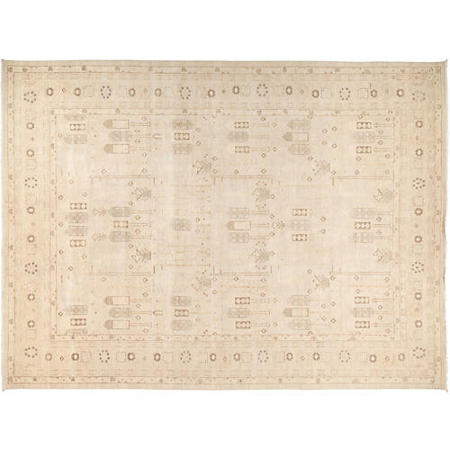 "10'2""x13'8"" Ziegler Rug, Brown/Beige"