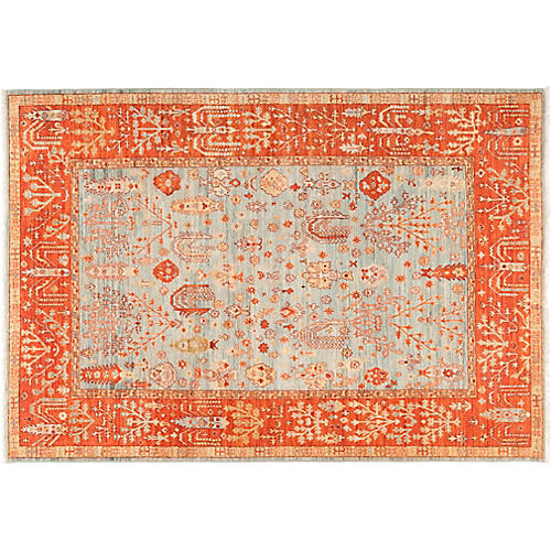 "6'1""x8'8"" Serapi Rug, Red"