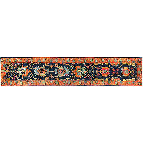 "2'8""x13'8"" Eclectic Runner, Multi"