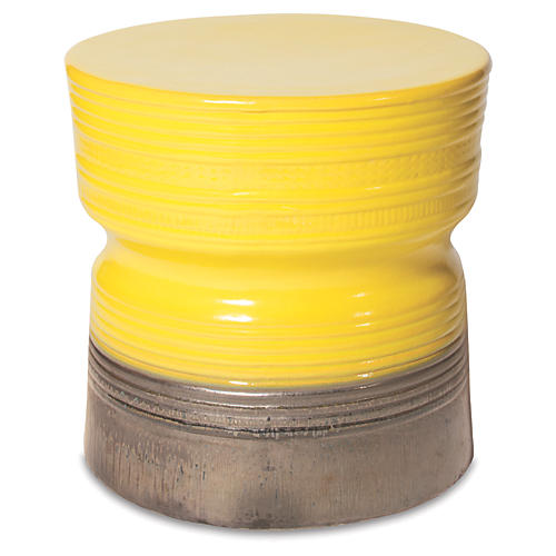 Zurich Ceramic Stool, Yellow