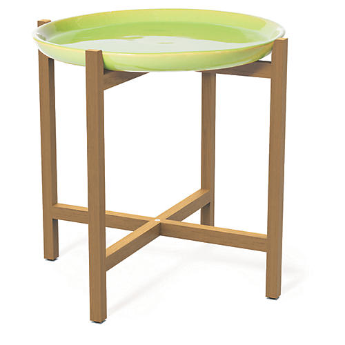 Ibis Outdoor Side Table, Apple Green