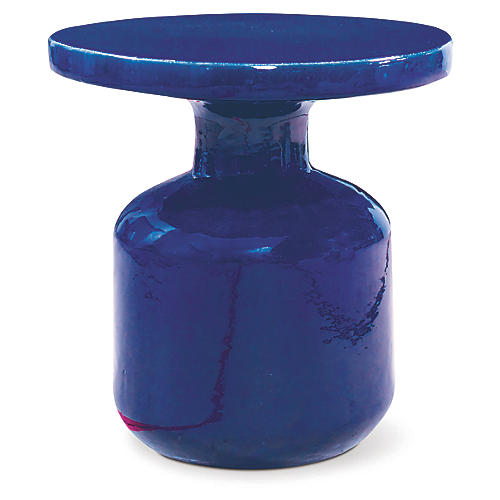 Bottle Outdoor Side Table, Navy
