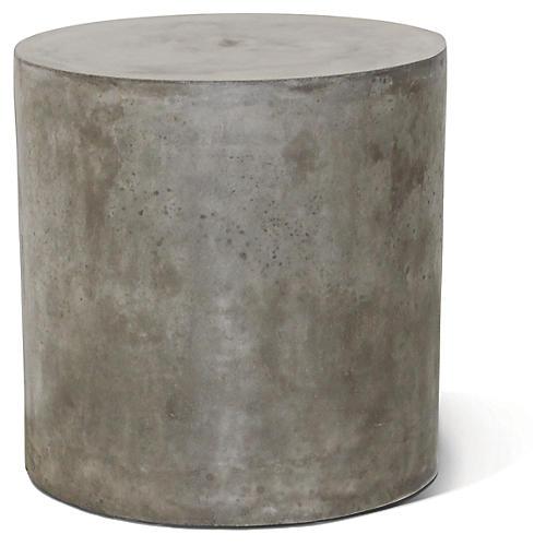 Bill Concrete Side Table, Gray