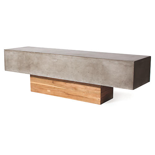 Kochi Concrete Bench, Gray