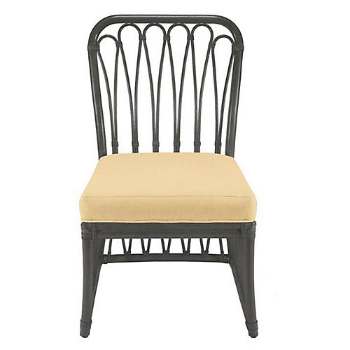 Ella Rattan Side Chair, Clove