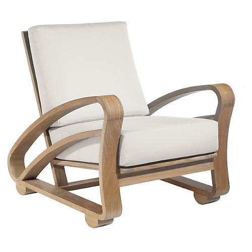 Java Outdoor Lounge Chair, Beige