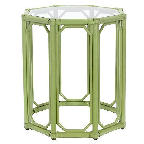 Short Eloise Octagonal Side Table, Kiwi