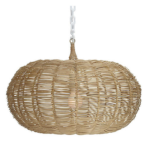"14"" Calabash 1-Light Hanging Pendant"