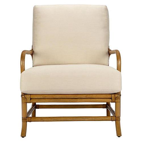 Ava Rattan Lounge Chair, Nutmeg