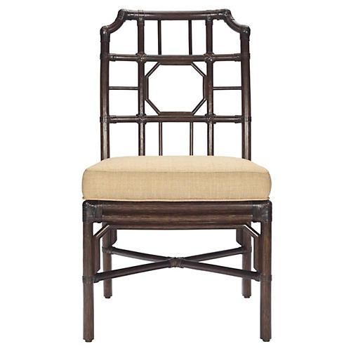 Eloise Rattan Side Chair, Wheatberry