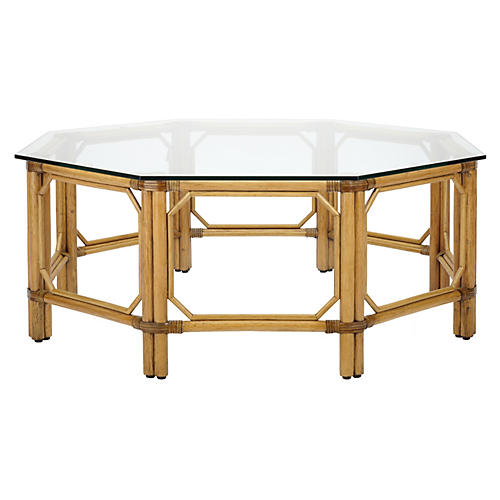 "Eloise 43"" Octagon Coffee Table, Nutmeg"
