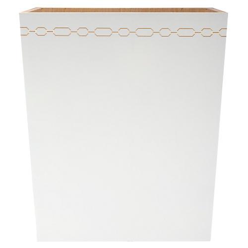 Norma Wastebasket, White