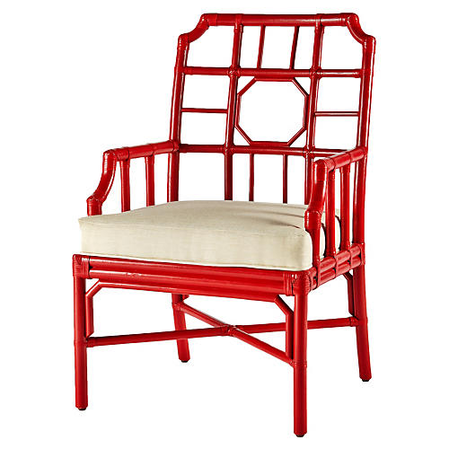 Regeant Armchair, Antiqued Red