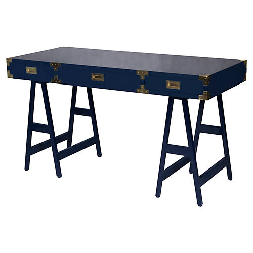 Kimber Study Desk, Navy