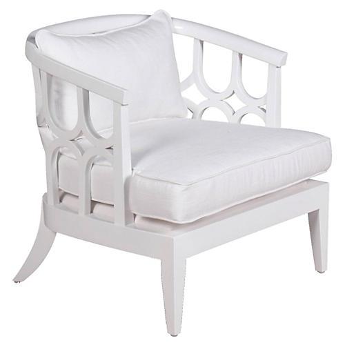 Johnson Lounge Chair, White