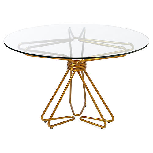 Gianna Dining Table, Gold