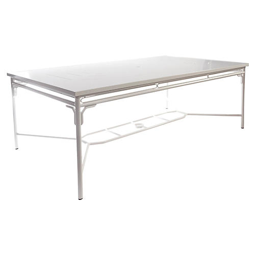 "Chateaux 80"" Outdoor Table, Winter White"