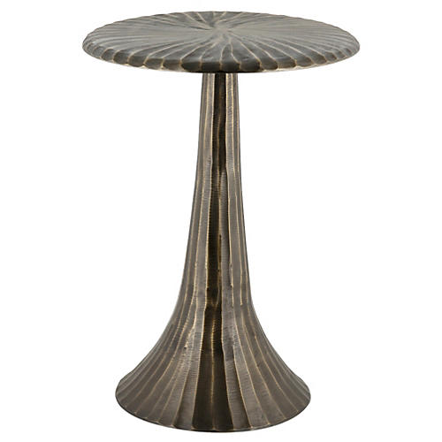 Alice Side Table, Antiqued Brass