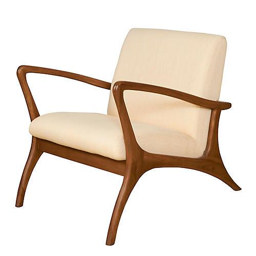 Soren Outdoor Lounge Chair, Natural