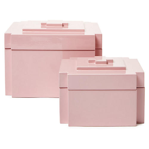 Asst. of 2 Jalk Nesting Boxes, Pink