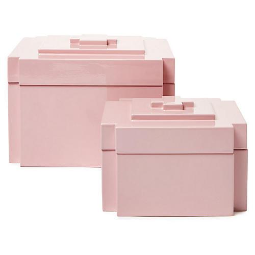 Asst. of 2 Jalk Nesting Boxes, Pink