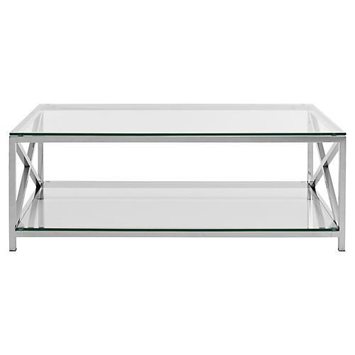 Hayworth Coffee Table, Silver