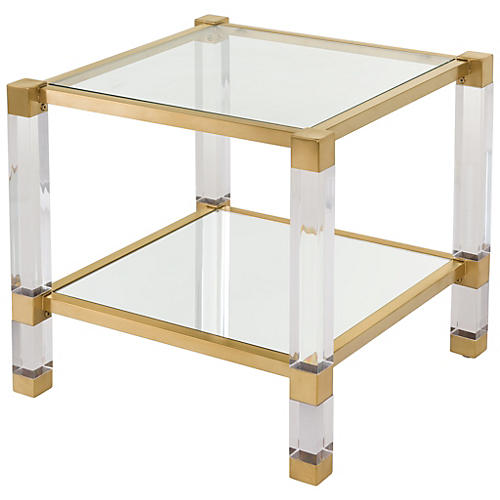 Stacy Side Table, Gold