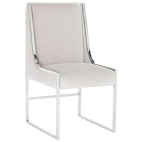 Arteaga Side Chair, Almond Velvet
