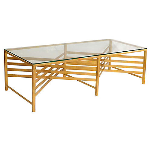 Lina Coffee Table, Gold