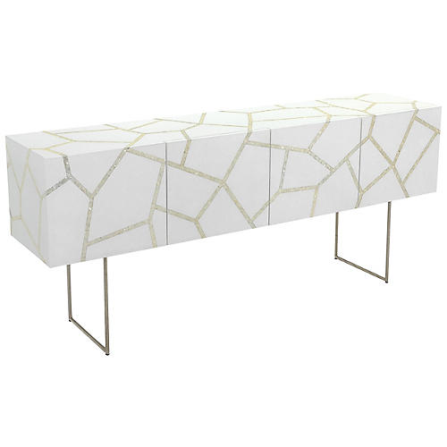 Ashley Mother-of-Pearl Sideboard, White