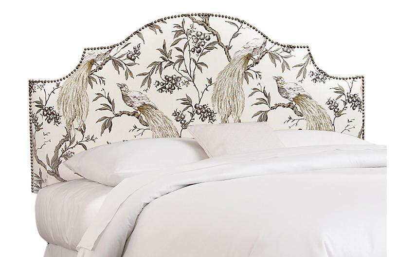 Miller Headboard - Peacock Linen