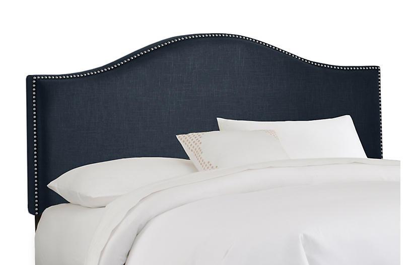 Tallman Headboard, Navy Linen