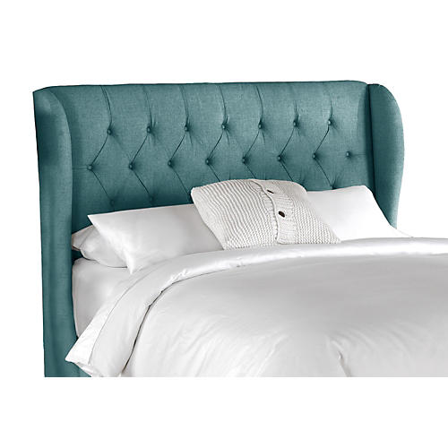 Reed Wingback Headboard, Teal