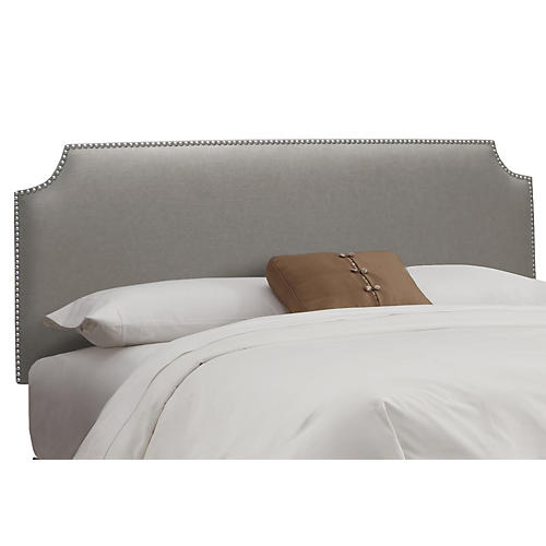 Ellis Headboard, Gray Linen