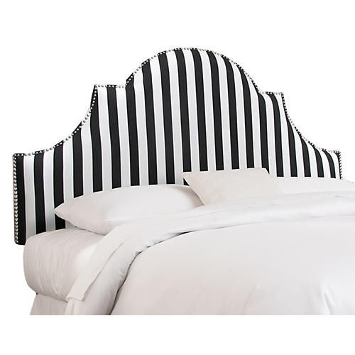 Hedren Headboard, Black Stripe