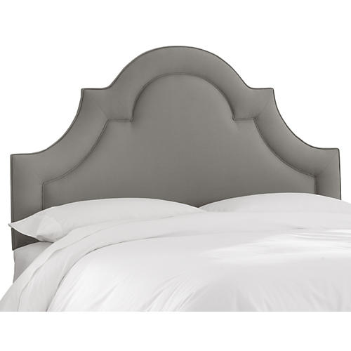 Kennedy Arched Headboard, Gray Linen