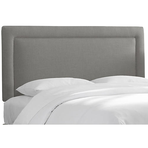 Collins Headboard, Gray Linen