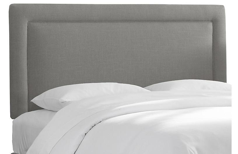 Collins Headboard, Gray Linen
