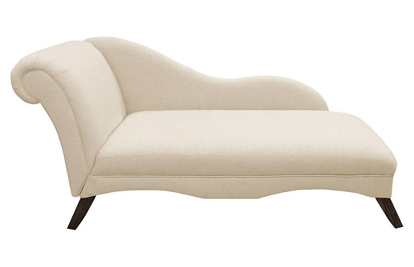 Ariel Chaise, Talc Linen