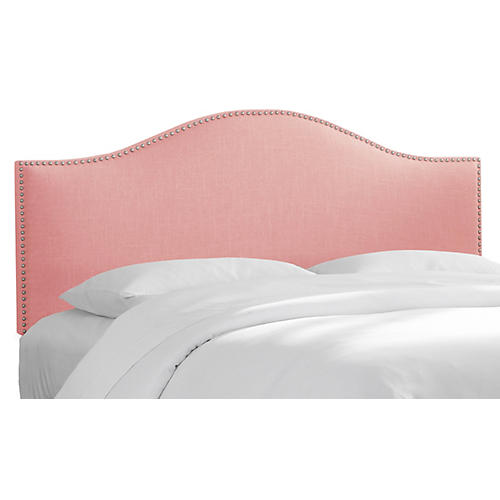 Tallman Headboard, Pink Linen