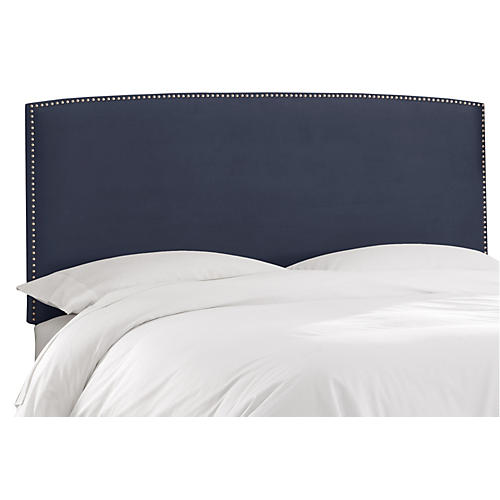 Everly Headboard, Ocean Velvet
