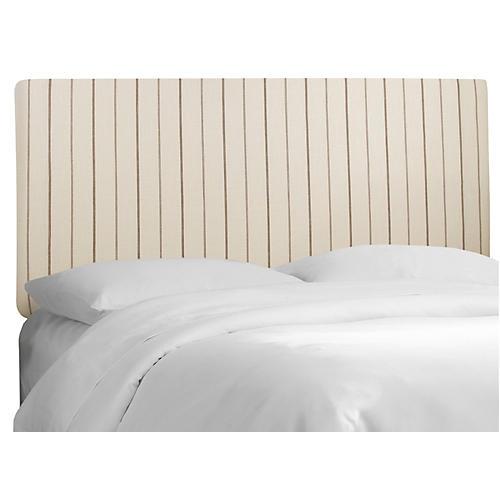Novak Headboard, Flax Stripe