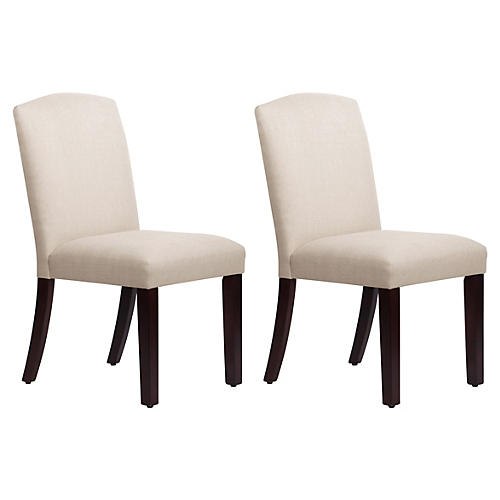 S/2 Marie Side Chairs, Talc