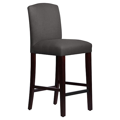 Marie Barstool, Charcoal Linen