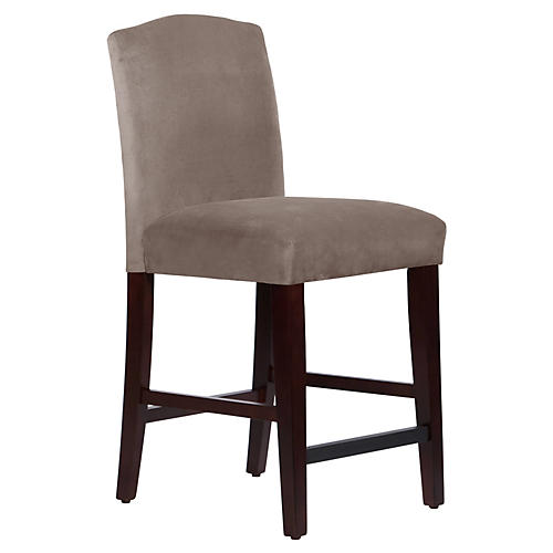 Marie Arched Counter Stool, Smoke