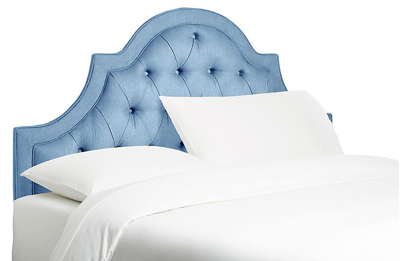 Harvey Headboard, French Blue Linen