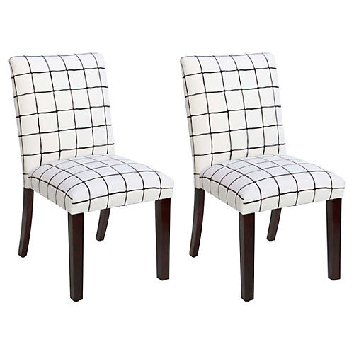 S/2 Shannon Side Chair, Black/White