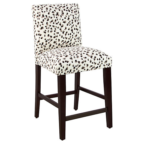 Shannon Counter Stool, Black/Gray Spot