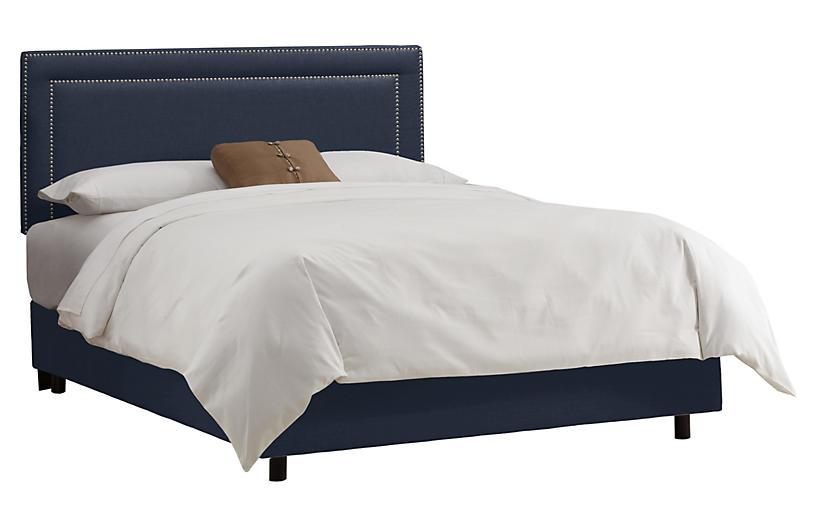 Bardot Bed, Navy
